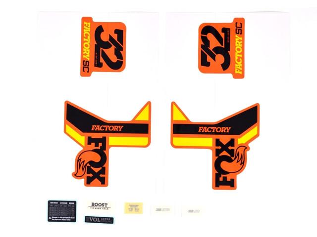 Fox Racing Shox Aufkleber Set für 32 SC F-S black/yellow/shiny orange